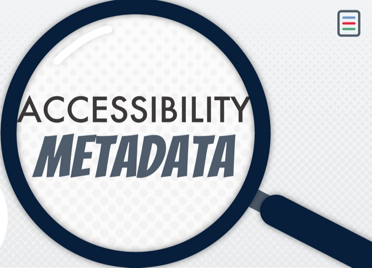 Magnifying glass over accessibility metadata
